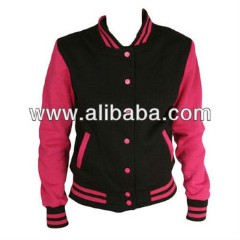 Pink Sleeves Varsity Jacket For Girls - Buy Custom Varsity Jackets ...