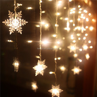 Beauty snowflake decoration christmas lighting led string light for house indoor and outdoor