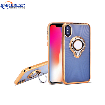 Soft Tpu Meteiral Metal Ring Holder Electroplated Phone Case For