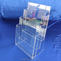 Acrylic Donation Box With Brochure Holder