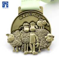Hot Sale Custom 3D cartoon image children running Made Metal Medals