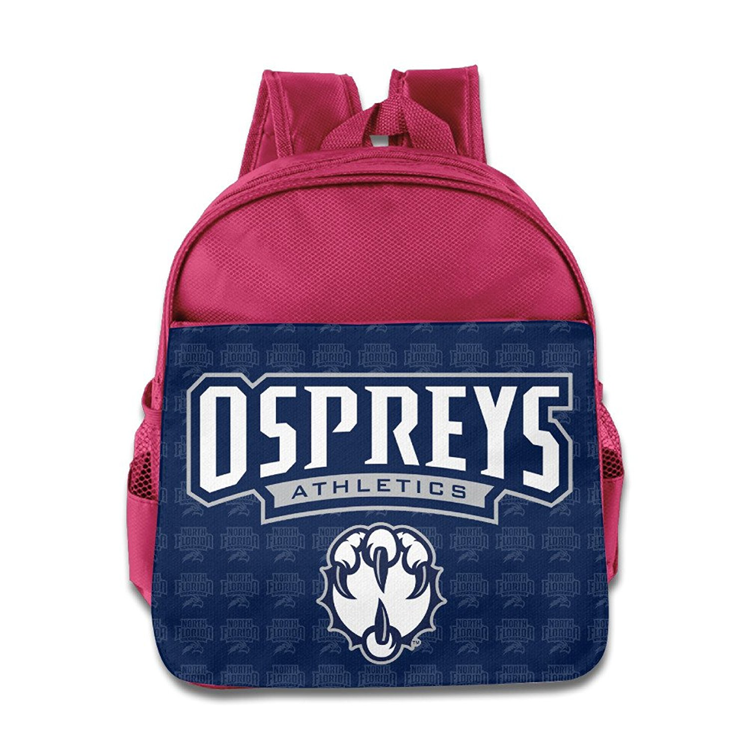 285523a1bf15 NCAA University Of North Florida UNF Ospreys Logo Kids School Backpack Bag  Pink