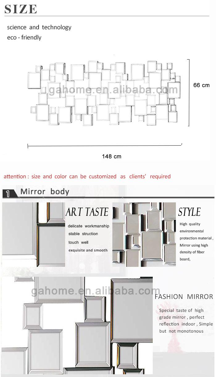 Zilver wandspiegel hotel pleinen buy product on - Decoratieve spiegel plakken ...