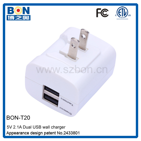 Cuboid-shaped USB DC 12v to 5v Digital Devices Usb Travel Charger for Canada
