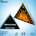 Solar Power Traffic Car Triangle LED Flashing Warning Sign Light
