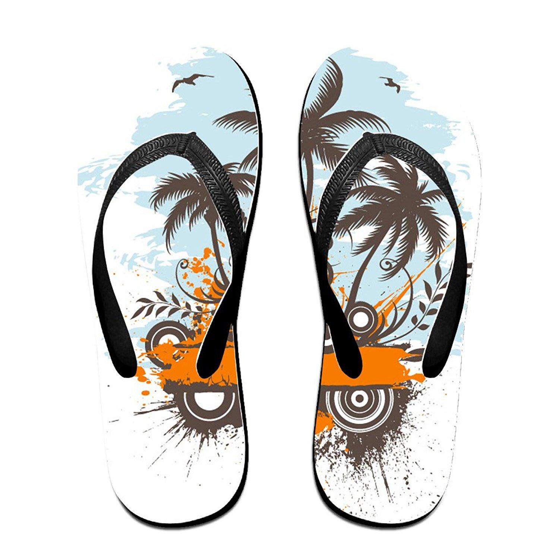 4c2d870fff27 Get Quotations · LIVEFAY Summer Coconut Tree Pattern Beach Sandal Womens Mens  Flip Flops Sandal Slippers Pool Sandals