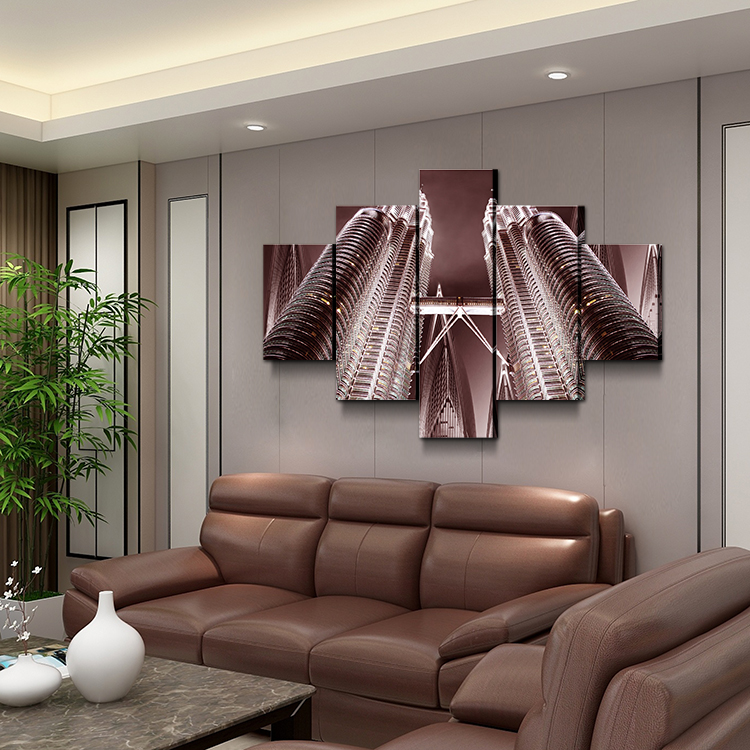 Modern high-rise visual experience micro-spray painting living room bedroom 3D Art Work Wall art decor printing
