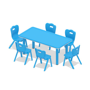 Kindergarten Rectangle Kids Plastic Table And Chairs,Custom Kids Table And Chairs,Luxury Table And Chairs Kids