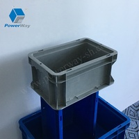 600*400*280mm large EU standard plastic logistic containers box stackable plastic crates
