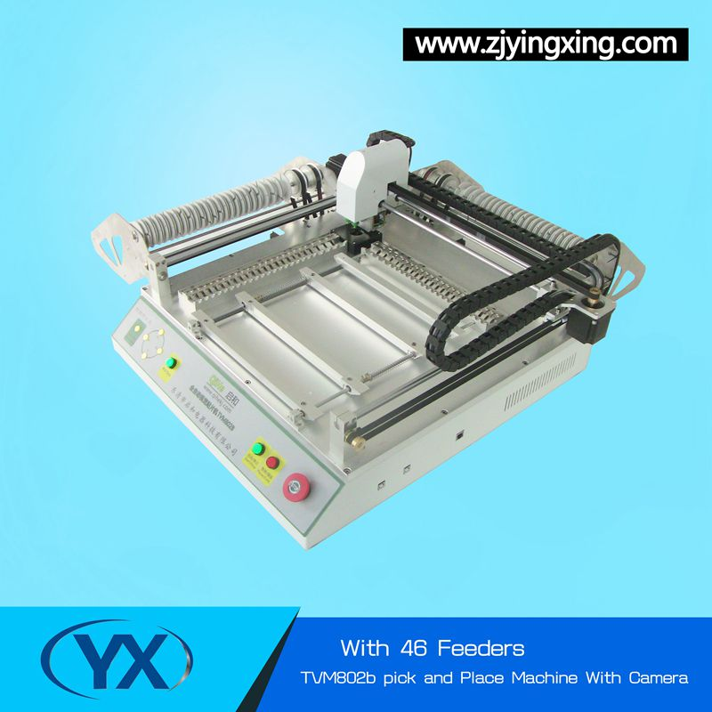 High Precision SMT Chip Mounter TVM802BWith 46 Feeders Low Cost PCB Machine Manual Small PNP Machine