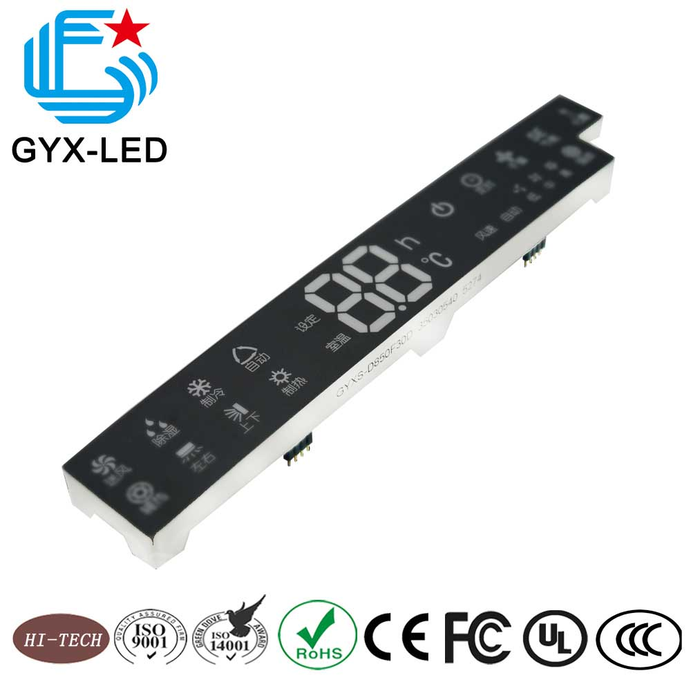 White color smd type graphic fnd customized led display for air conditioner