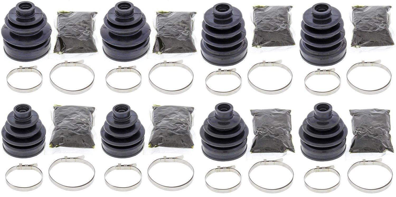 Complete Front & Rear Inner & Outer CV Boot Repair Kit for Honda TRX680 Rincon 2010-2016 All Balls