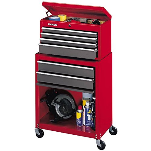 Stack-On SC-600 6-Drawer Chest/Cabinet Combo, Red