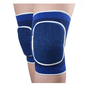 Wholesale high elastic nylon fabric knee sleeve with sponge for sports