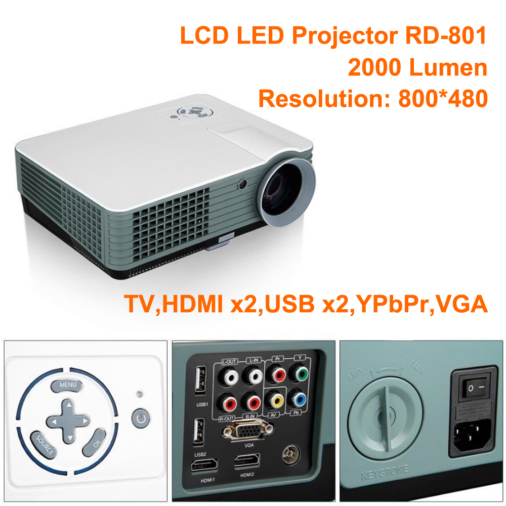 For sale 2000 lumen projector 2000 lumen projector for Small projector with high lumens