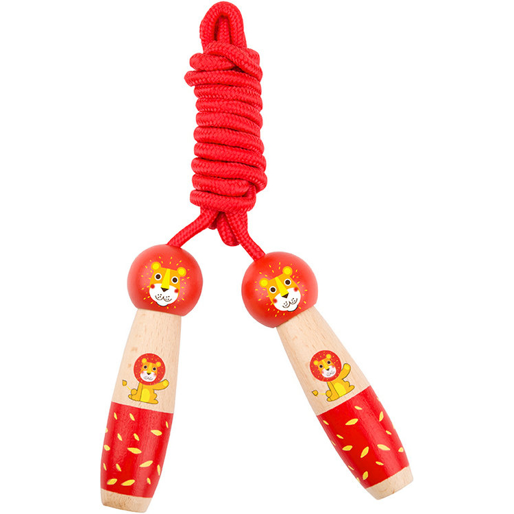 New wooden skipping rope