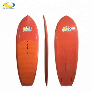 7'6'' multifunctional windsurf board, sup, hydofoil surfboard with bamboo veneer
