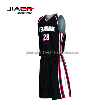 1032c9dab99 Top quality wholesale blank latest basketball uniform design custom 2019  sublimation black basketball jersey