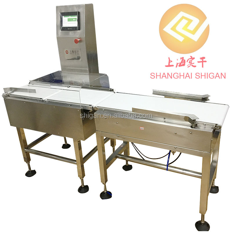 Automatic PLC control glass checkweigher electronic belt scale with alarm clock
