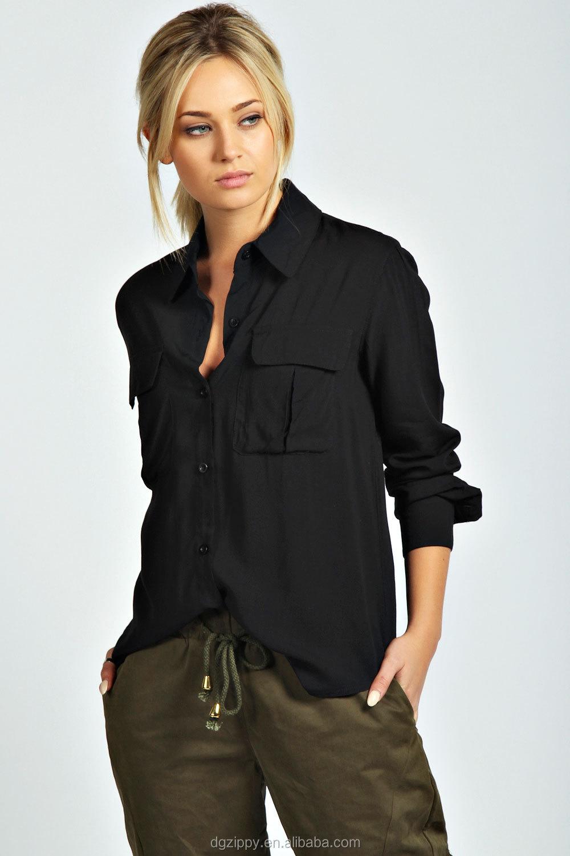 Shirt design female - Ladies Shirt Polo Collar Plaid Shirt New Fashion Design Blusas Women 2016