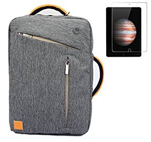 """VanGoddy Universal Hybrid Backpack / Briefcase / Messenger / Tote, 4 in 1 Multifunction 13.3"""" Laptop / Tablet Carrying Bag + Apple iPad Pro 12.9 Inch Tempered Glass Screen Protector"""