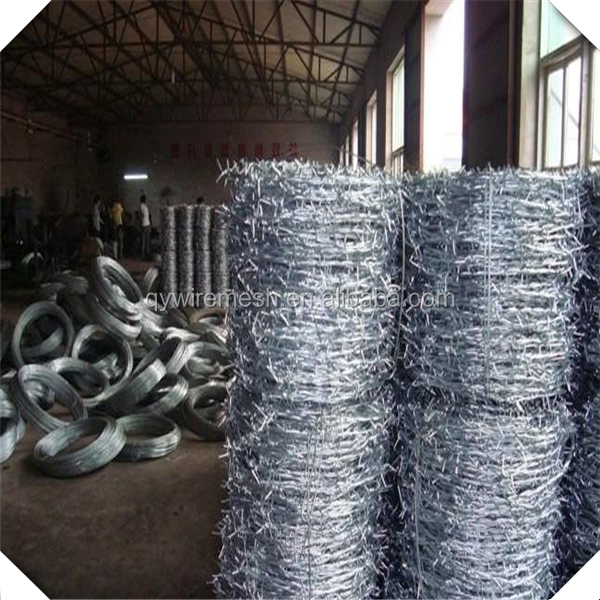Qy 14#*12# Galvanized Barbed Wire Price / Barbed Wire Factory ...