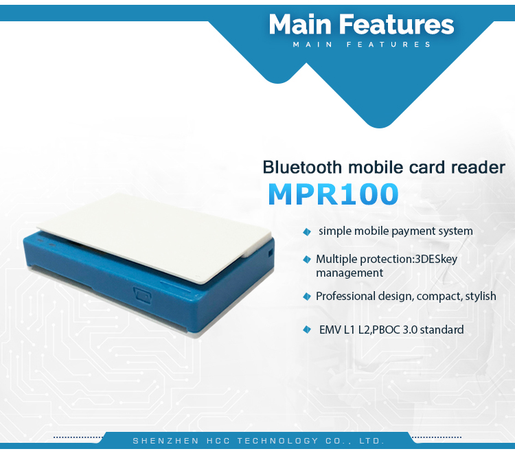 Bluetooth Wireless IC  Mobile Magnetic Card Reader For Android MPR100