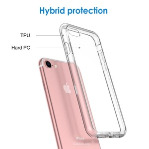Shockproof Matte Soft TPU Mobile Back Cover Cell Phone Case for iPhone X 8 7 6 Plus