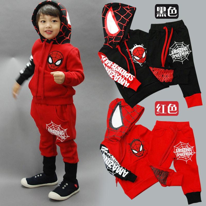 Spiderman Crianças Meninos Vestuário definir Baby Boy Aranha Suits homem  dos esportes 2-6 Sets a185968a4342b