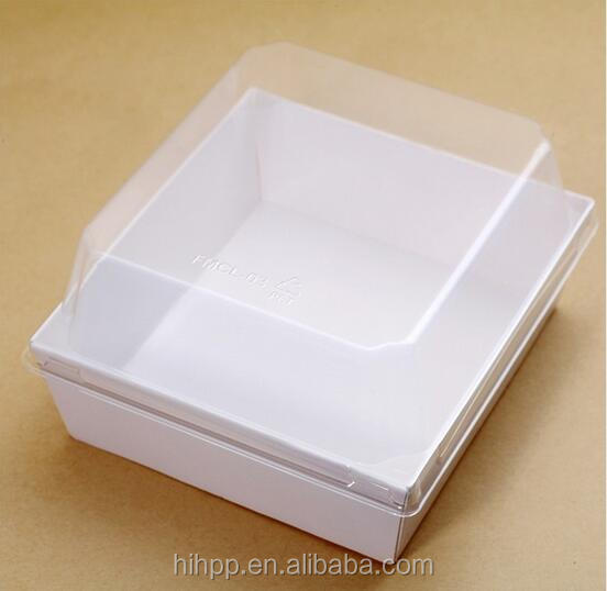 Paper Tray With Plastic Lid Food Grade
