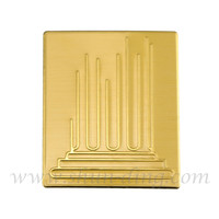 Custom Style Gold Foil Metal Name Plate For Door