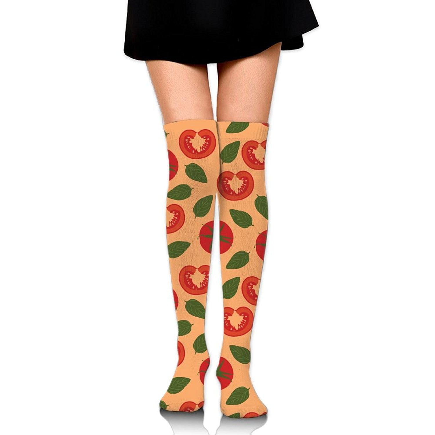 Zaqxsw Tomatoes Women Cool Thigh High Socks Thermal Socks For Teen Girls