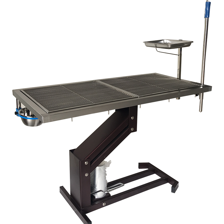 Vet operating table Hydraulic pressure electric lifting stainless steel veterinary wet table