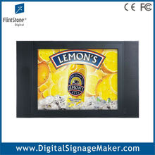 "Supermarket shelf mounted video promotional 15"" 1080P HD lcd advertising player/display/screens"