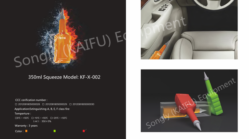 Songly Kaifu Elie Fireball Fluide Fire Extinguisher