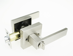 Tubular Lever Door Lock Satin Nickel Finish Aluminium Handle Door Lock