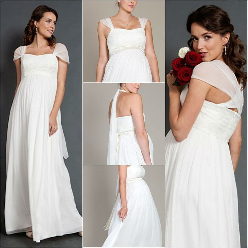Simple Ankle Length Lace Wedding Dresses White Three: Best Sale Simple Design Ankle Length Square Column Cap