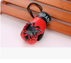 Wholesale hot mini boxing glove keychains with country flag best selling custom boxing glove keychains