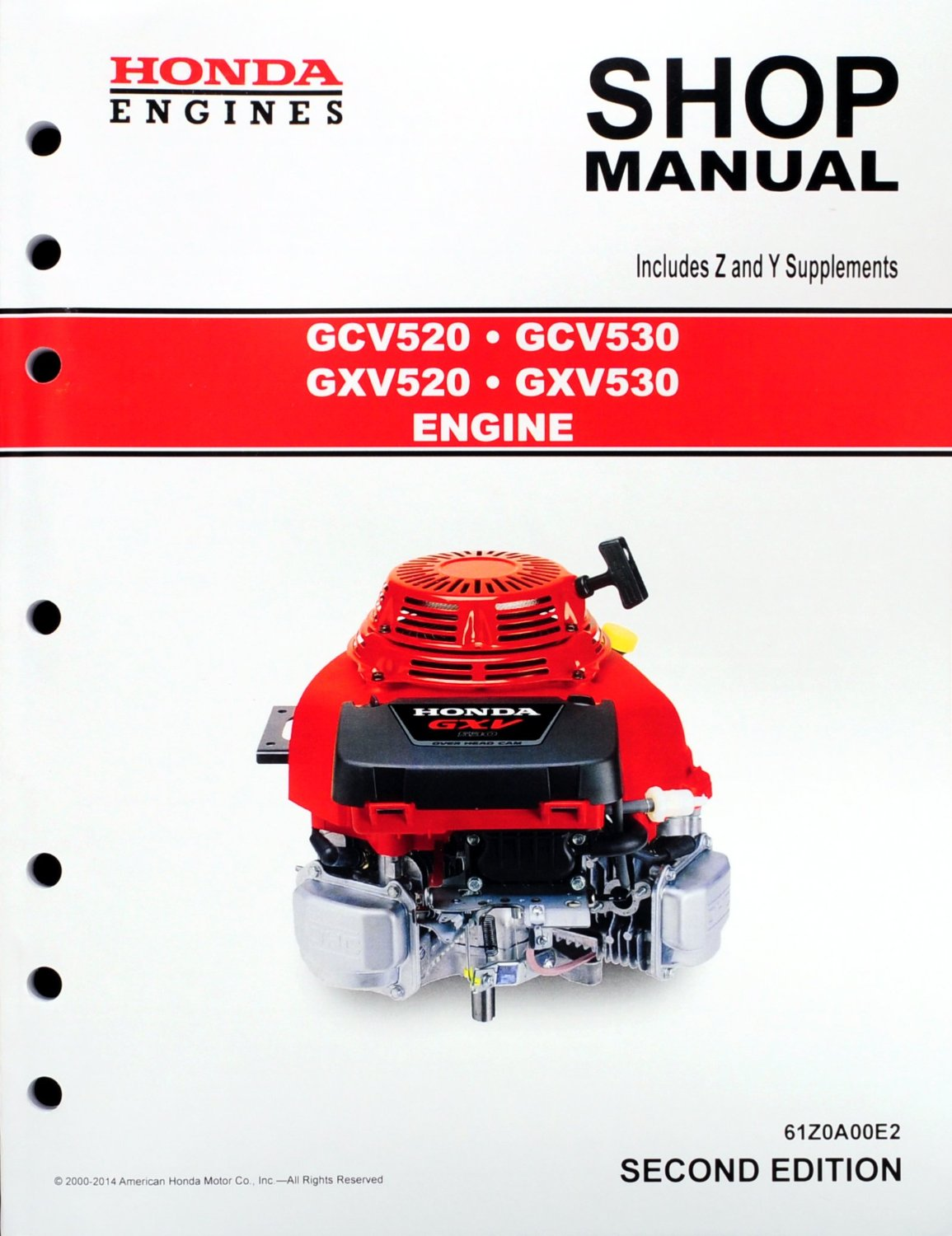 Get Quotations · Honda GCV520 GCV530 GXV520 GXV530 Engine Service Repair  Shop Manual