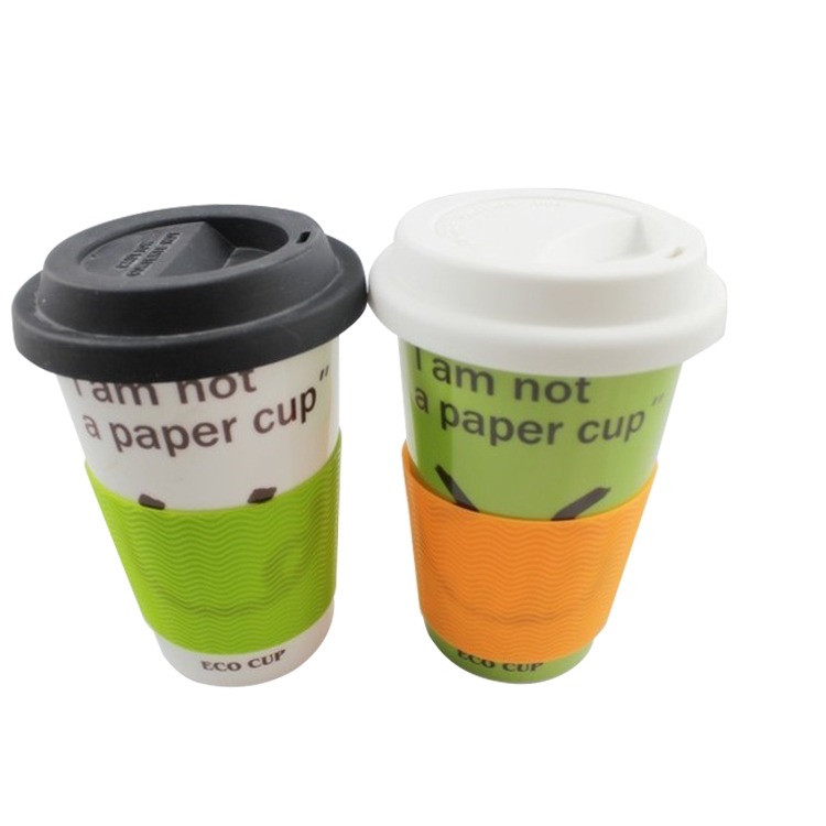 Wholesale customized anti scald reusable custom coffee cup silicone bottle sleeve