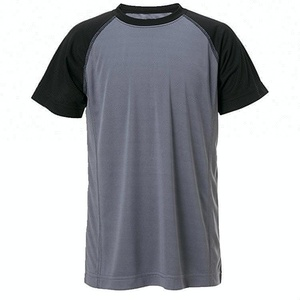 Wholesale high quality 100% polyester blank custom two color mems t shirt