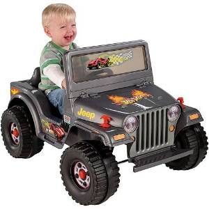 Fisher-Price Power Wheels Charcoal Hot Wheels Jeep 6-Volt Battery-Powered Ride-On
