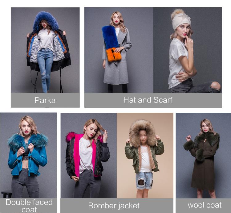 Hot sale wholesale winter elegant fur coat female fashion new style genuine raccoon fur jacket