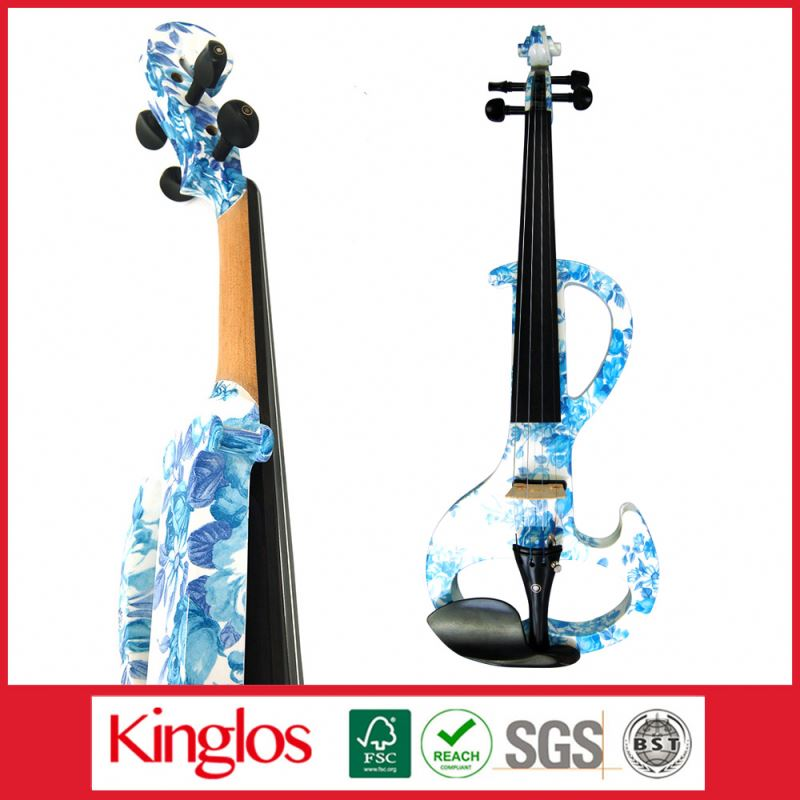 Handmade 4/4size violin for sale with ebony fittings (DSZA-1201-024)