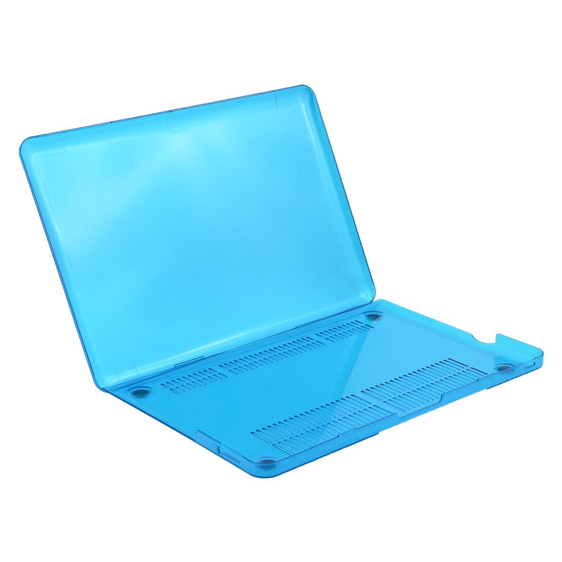 uxcell Plastic Laptop Non-Slip Hard Cover Case Crystal Teal Blue for Macbook Pro 13.3 Inch