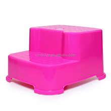 factory price kids plastic two steps stool