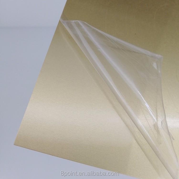 Brushed Golden metal sublimation blanks Freely printing aluminum sheets