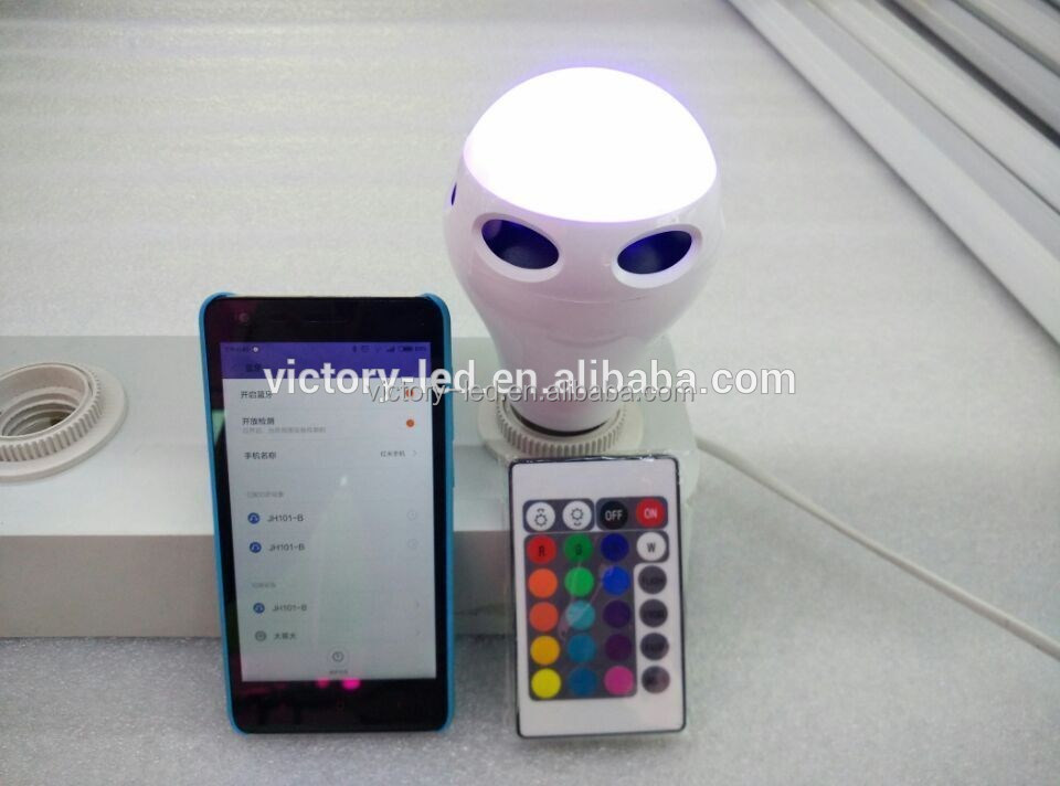 10w E26 E27 good performence bluetooth speaker smart led <strong>bulb</strong> with music remote