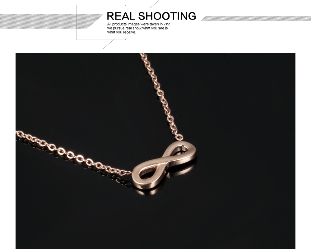 Unique Jewellery Stainless Steel Pendant Infinity Chain Design Accessories For Women Necklace