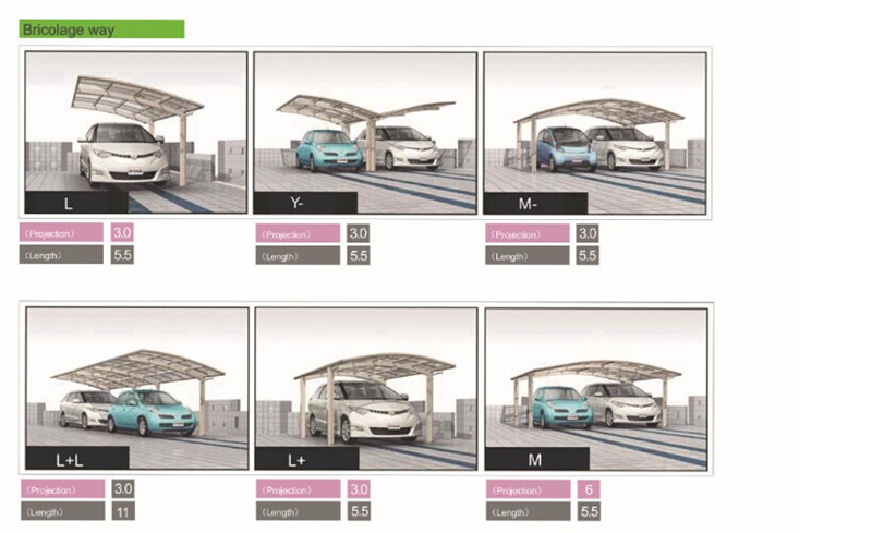 2014 newest modern aluminum carport with high reputation aluminum